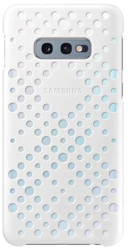 купить Чехол для смартфона Samsung EF-XG970 Pattern Cover Galaxy S10e White&Yellow в Кишинёве