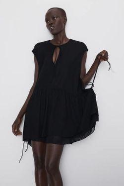 Платье ZARA Чёрный 1198/457/800