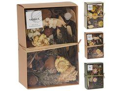 Цветы ароматизированные в коробке 200gr 20X10cm, 3вида