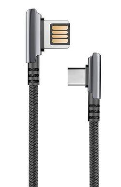 купить Кабель для моб. устройства Partner 39482 HANDY 2.1A USB 2.0 - Type-C 1.2м Black в Кишинёве
