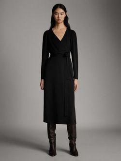 Платье Massimo Dutti Чёрный 6638/891/800