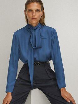 Блуза Massimo Dutti Синий 5143/589/485