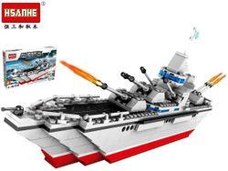 Конструктор HSANHE Эсминец 37.5X24.5X6cm, 353дет.