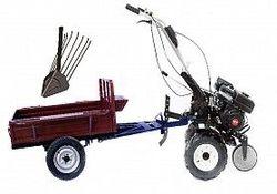 Set motocultivator TECHNOWORKER HB 700S+Remorca RK500 + plug cartofi