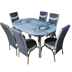 Овальный гарнитур 1009 + 6 стульев