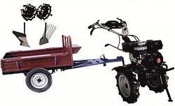 Set motocultivator TECHNOWORKER HB 700RS ECO+Remorca RK500 + plug simplu + plug cartofi + roti metalice 4*8
