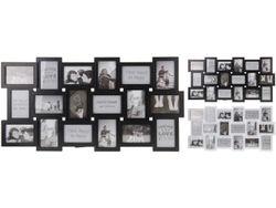 Rama foto colaj ( 18 foto 10X15cm),  alba/neagra