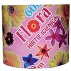 Hârtie  igienică Flora maculat.