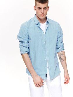 Рубашка TOP SECRET Синий в полоску skl2858