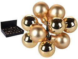 Set globuri 10X20mm aurii, in legatura