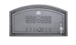 Дверца чугунная глухая левая с термометром DCH1T