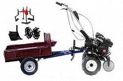 Набор мотоблок TECHNOWORKER HB 700S+Прицеп RK500 + плуг регулируемый + металлические колеса 4*8 + мотыга