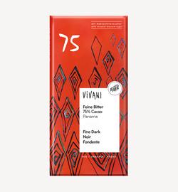 Ciocolată amară 75% bio Vivani 80g
