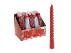 Набор свечей 2шт, 21cm, красные/белые
