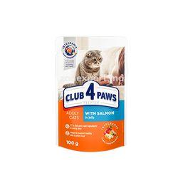 Club 4 Paws Premium с лососем в желе 100 gr
