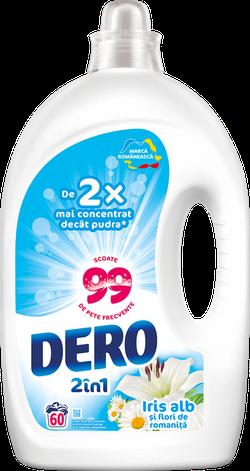 Жидкое моющее средство Dero 2в1 Белый Ирис и Ромашка, 3 л.