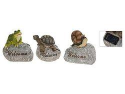 Черепаха, лягушка, улитка на камне меняющие цвет 17.5cm