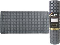 Коврик для ванны 36X76cm Quadro Premium серый, резиновый
