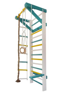 Spalier gimnastic multifunctional colorat 230х80 cm, 14 bare (3669) (la comanda)