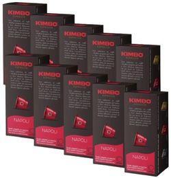 Capsule pentru aparatele de cafea Kimbo Napoli Nespresso 100 caps