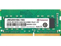 16 ГБ DDR4- 3200 МГц SODIMM Transcend PC25600, CL22, 260-контактный модуль DIMM 1,2 В