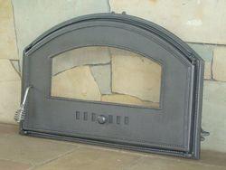 Дверца чугунная со стеклом правая DCHD4