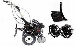 Набор мотоблок TECHNOWORKER HB 705 N + плуг простой + плуг картофель + плуг регулируемый + металлические колеса 4*8 + мотыга
