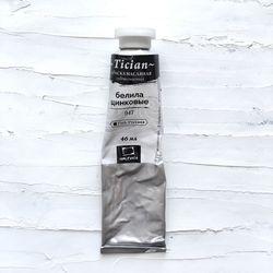 Vopsea în ulei, Tician, Alb zincat, 46 ml