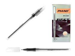 Ручка шариковая PT-1157 soft ink,1mm, черная