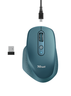 Wireless Mouse Trust Ozaa Rechargeable, Blue