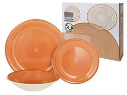 Set farfurii Gypsy Orange 3buc  (D19,D21,D26.5), din ceramica