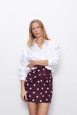 Юбка ZARA Фиолетовый в горошик zara 8565/102/610