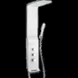 Hansgrohe Raindance Lift 180 Panou de duș cu 2 jeturi cu termostat, alb / crom