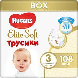 Трусики Huggies Elite Soft Mega 3 (6-11 kg), 108 шт. BOX