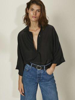 Блуза Massimo Dutti Чёрный 5172/573/800
