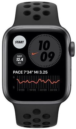 cumpără Ceas inteligent Apple Apple Watch NIKE SE 44mm Space Gray Aluminium Case with Anthracite/Black Nike Sport Band (MYYK2) în Chișinău