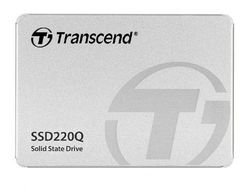 2,5-дюймовый твердотельный накопитель SATA 2,0 ТБ Transcend «SSD220Q» [R / W: 550/500 МБ / с, 81/80 000 операций ввода-вывода в секунду, SM2259XT, 3D-NAND QLC]