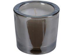 Свеча в стеклянном подсвечнике 6X6cm, серый перламутр