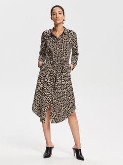 Платье RESERVED Черный с принтом wc621-mlc