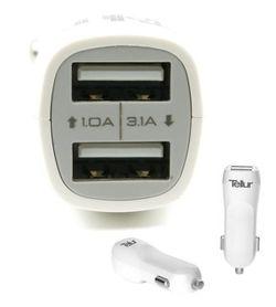 cumpără Accesoriu pentru aparat mobil Tellur TLL151001 dual USB C201 - 3.1A în Chișinău