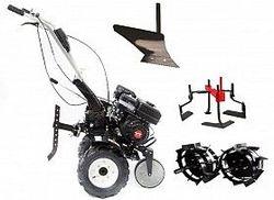 Набор мотоблок TECHNOWORKER HB 705.3.3 S + плуг простой + металлические колеса 4*8 + мотыга