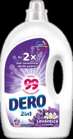Жидкое моющее средство Dero 2в1 Лаванда и Жасмин, 3 л.