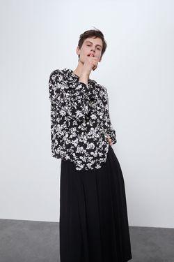 Блуза ZARA Черно-белый 8351/025/084