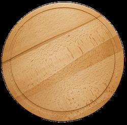 Tocator lemn rotund 35 cm
