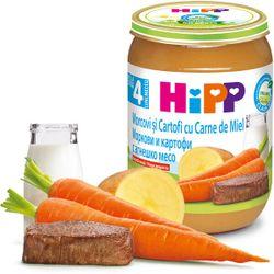 Пюре Hipp морковь, картофель и ягненок (4+ мес.), 190 г
