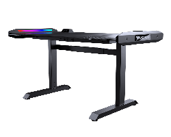 Gaming Desk Cougar MARS, Width 1500mm, Heigh 750 / 800 / 850 mm, Dual-sided RGB Lighting Effects