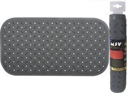 Коврик для ванны 36X65cm Class Premium серый, резиновый