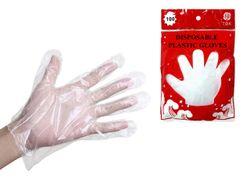 Перчатки хозяйственные 100шт 40gr, полиэтилен
