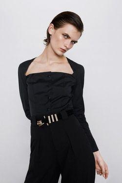 Блуза ZARA Чёрный 8350/872/800