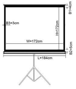 Экран для проектора Lumi PSDB96